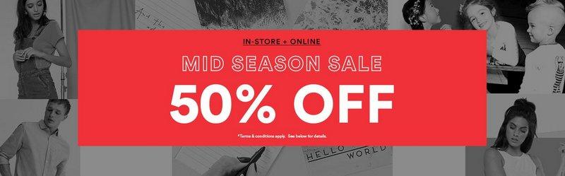 时尚品牌 Cotton On 周末特价活动:全场所有商品 满$60 立减$15!