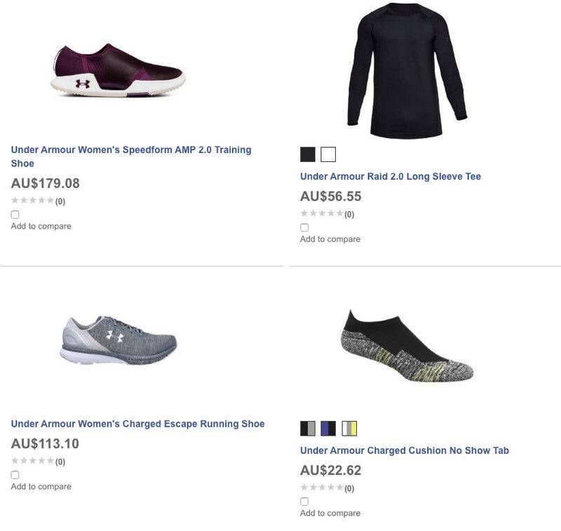 运动产品专卖网站 Wiggle:所有 Under Armour 安德玛 品牌商品额外7折优惠!