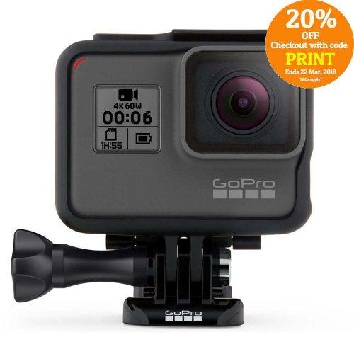 GoPro HERO 6 Black 运动摄像机 4K60帧 裸机防水 额外8折优惠!