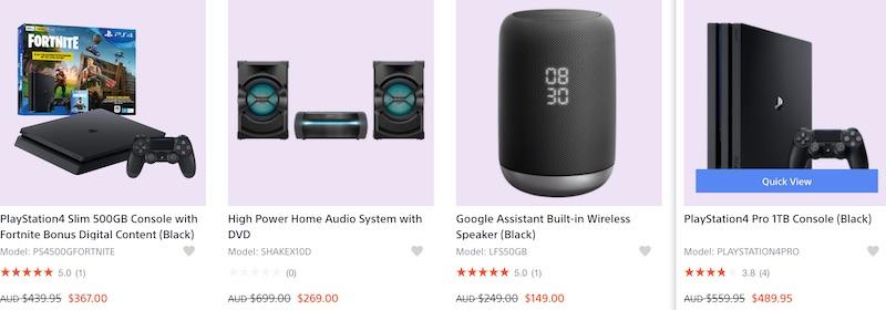 索尼 Sony 澳洲官网特价活动:部分精选商品 - 相机、耳机、游戏机等 - 低至4折优惠!