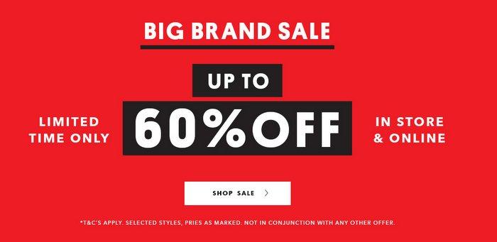 时尚网站 Glue Store 大牌特价活动:部分精选商品低至4折优惠!