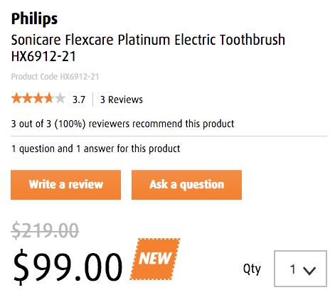 PHILIPS 飞利浦 Sonicare FlexCare HX6912-21 声波美白电动牙刷 - 低至45折优惠!