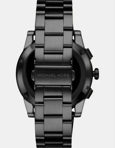 MICHAEL KORS Grayson 男款时尚黑色精钢智能腕表 - 半价优惠!