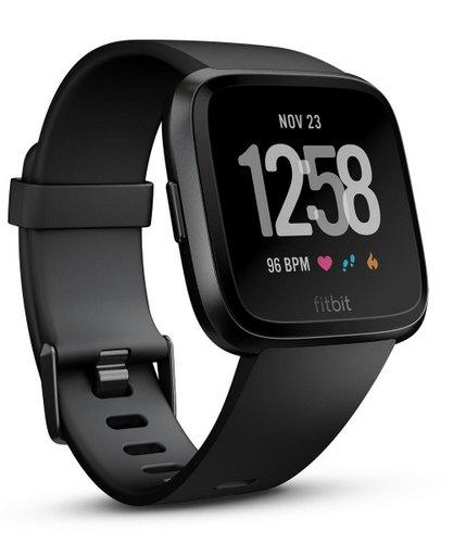 FITBIT – FB505GMBK Versa  2018新款智能手表 黑色款 8折优惠!