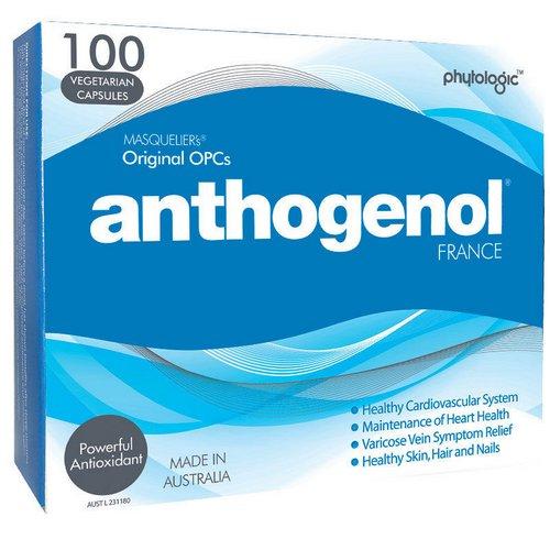 Anthogenol 花青素葡萄籽精华 抗衰老胶囊 100粒装 – 5折优惠!