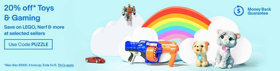 EB Games、Catch、Myer、The Games Men 等多个商家 eBay 店玩具、游戏机等种类商品