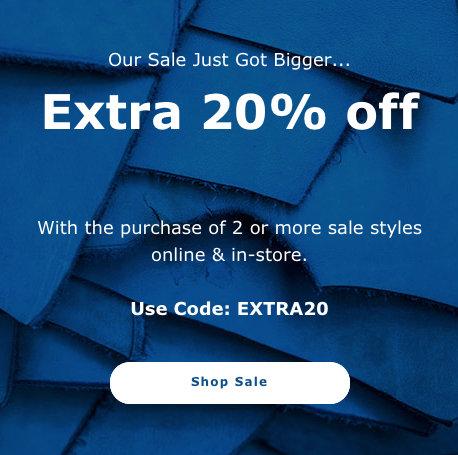 时尚品牌 ECCO 官网活动:已低至5折的特价商品 购买两件可再享额外8折优惠!
