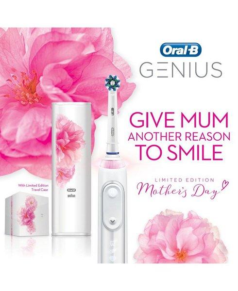 Oral-B Genius 9000 智能电动牙刷 白色樱花限量版套装 – 低至4折优惠!
