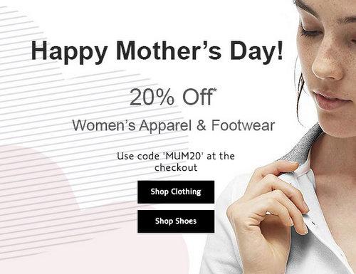 休闲运动品牌 Lacoste 法国鳄鱼 母亲节活动:部分精选女款服装及鞋子等商品