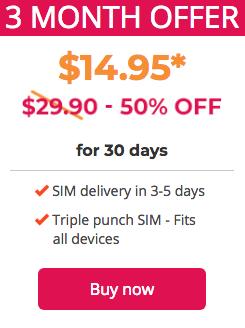 Yomojo 4GB流量的 Prepaid Unlimited 套餐:新用户前三个月半价优惠!