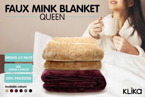 XL Faux Mink 800GSM 人造皮草毛毯 多色可选 86折优惠!