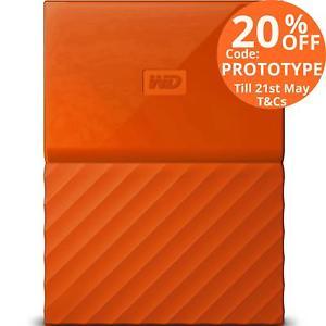 西部数据 Western Digital My Passport 4TB 便携式移动硬盘 8折优惠!
