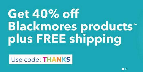 澳洲保健品品牌 Blackmores 官网周年庆活动:全场所有商品 6折优惠!