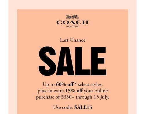 时尚轻奢品牌 Coach 澳洲官网特价活动:部分原本已低至4折的精选特价商品