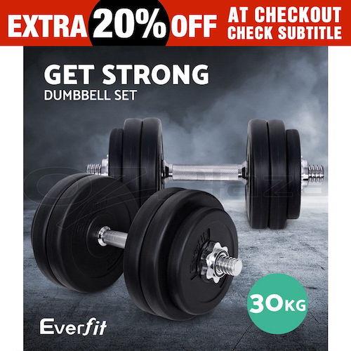 Everfit 30千克 健身哑铃 套装 接近3折优惠!