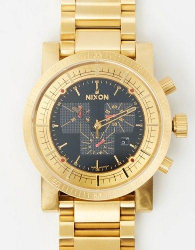Nixon Magnacon SS II 男款金色时尚石英腕表  75折优惠!