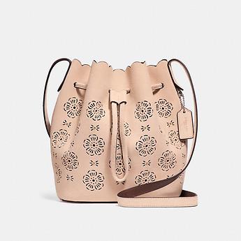 Coach 蔻驰 BUCKET BAG 18 镂空波浪边水桶包 三色可选 7折优惠!