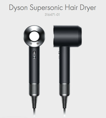 Dyson 戴森 Supersonic 无风叶高颜值电吹风 黑色款 9折优惠!