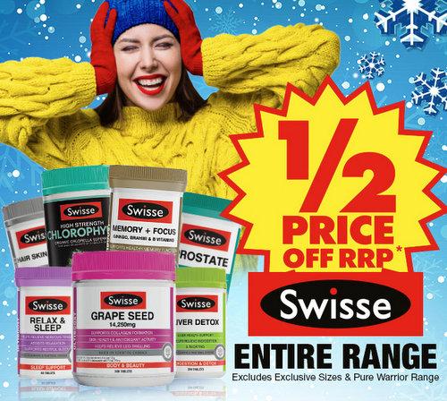 澳洲药房 Chemist Warehouse 所有 Swisse 品牌系列保健品
