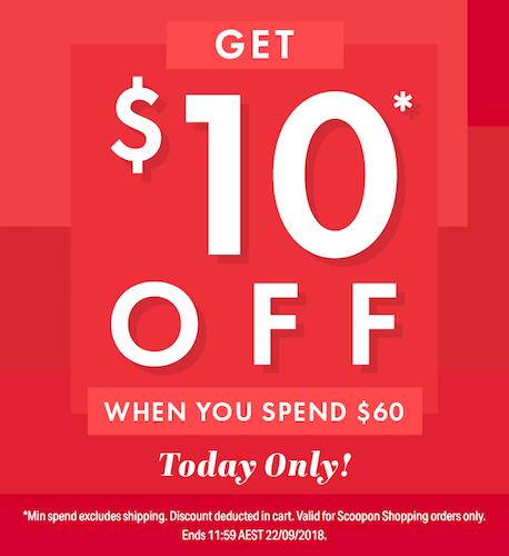 Scoopon – 所有商品类团购满$60 可额外立减10刀!