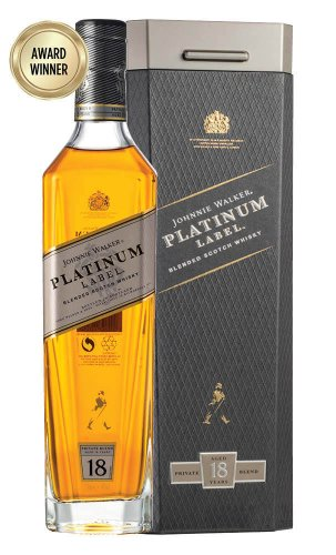 Johnnie Walker Platinum Label  铂金牌18年苏格兰威士忌750ml (Boxed) 76折优惠!
