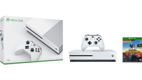 微软 Xbox One S 1TB 游戏主机 + 绝地求生 游戏套装 7折优惠!