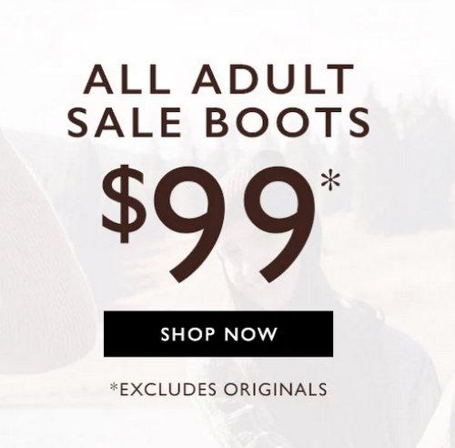 鞋履品牌 Clarks 澳洲官网:所有特价靴子类商品 每双只要99刀!