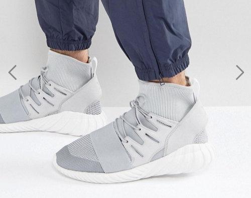 阿迪达斯 adidas Originals Tubular Doom Winter 男款灰色运动鞋 75折优惠!