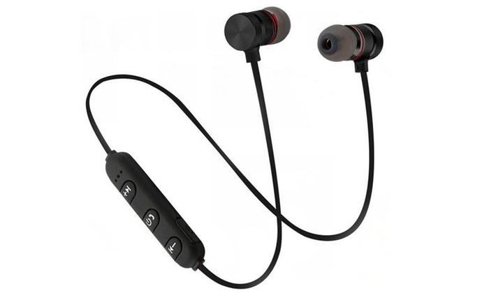 磁吸运动蓝牙4.1耳机双入耳跑步开车头戴通用无线耳机