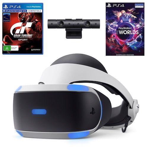 索尼 PlayStation VR with Camera & VR Worlds + Gran Turismo Sport 套装 低至5折优惠!