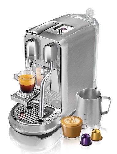 Breville Nespresso Creatista Plus – BNE800BSS 家用全自动意式胶囊咖啡机 银色 – 8折优惠!