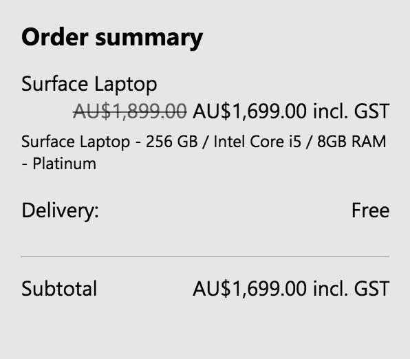 微软澳洲官网:Surface Pro 及 Surface Laptop 系列笔记本电脑 85折优惠!
