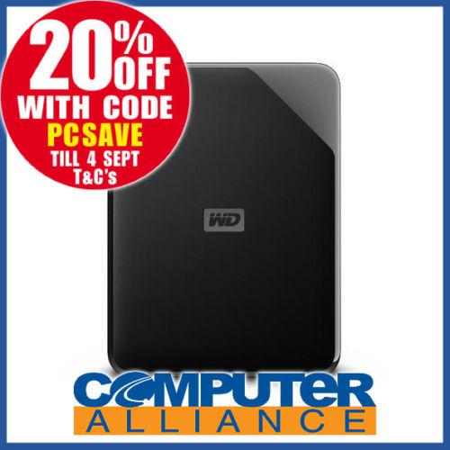 WD Elements SE 4TB  2.5″ USB 3.0 移动硬盘 8折优惠!