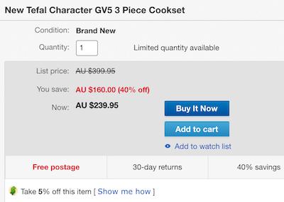 Tefal Character GV5 锅具三件套 - 6折优惠!