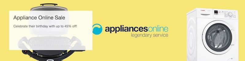 家电商家 Appliances Online 周年庆活动:部分精选商品 – 低至5折优惠!