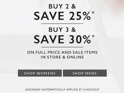 鞋履品牌 Clarks 特价活动:全场所有商品购买2件 – 可享额外75折优惠!