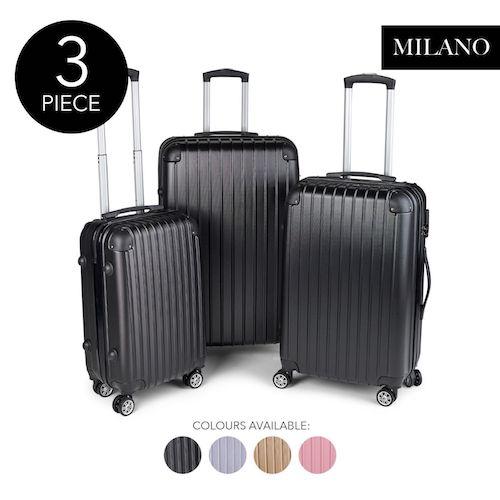 Milano Slimline ABS 防震硬壳行李箱 3件套 – 低至2折优惠!