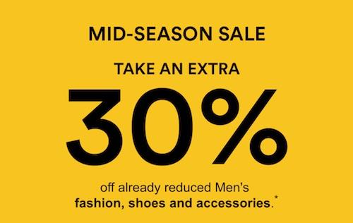 澳洲商城 David Jones 季中特价活动:原本已低至5折的时尚服饰、鞋子、配饰等特价商品 –