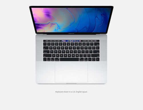 苹果 APPLE MACBOOK PRO 15″(256GB 2.2GHz TOUCH BAR 2018 银色款 MR962X/A) –