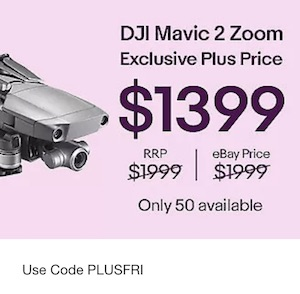 [eBay Plus] 大疆 DJI Mavic 2 Zoom RTF Kit 变焦版 新一代便携可折叠无人机– 直降600刀!