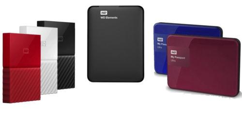 Western Digital 西部数据 WD Elements / My Passport 系列便携式移动硬盘 额外8折优惠!