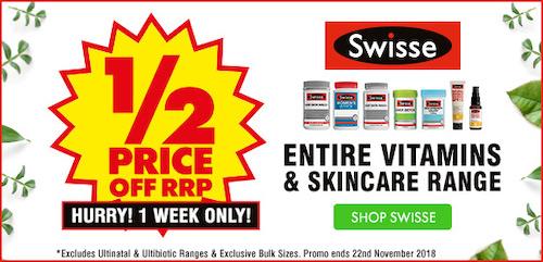 澳洲药房 Chemist Warehouse 特价活动:Swisse、Balckmores 等多个品牌的保健品 -