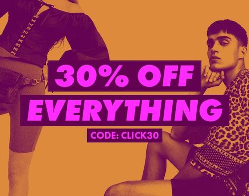 时尚网站 ASOS:全场所有商品 – 低至额外7折优惠!