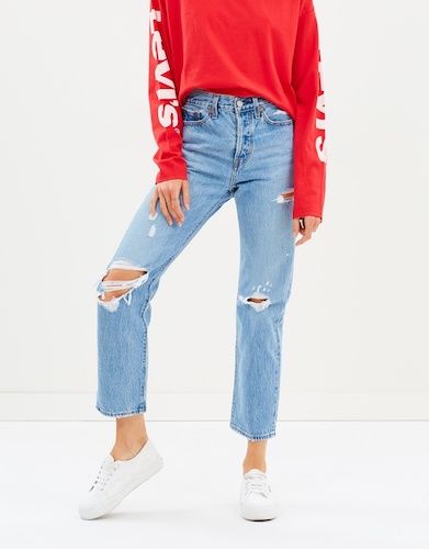 LEVI'S 女士破洞牛仔裤 7折优惠!
