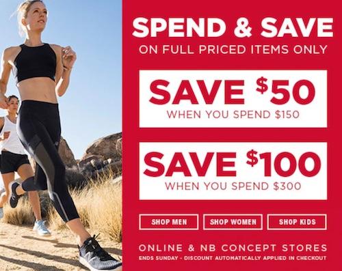 运动品牌 New Balance 满减活动:所有正价商品满$150 立减50刀!