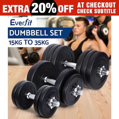 Everfit 15-35千克 健身哑铃 套装 低至4折优惠!