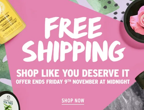 护肤品牌 美体小铺 The Body Shop 澳洲官网 所有订单 澳洲包邮!