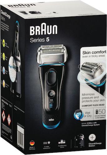 博朗 Braun 5系列 5190CC 干湿两用电动剃须刀 + 清洁充电底座 - 85折优惠!