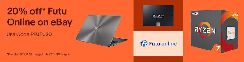 Futu Online eBay 店:全场所有商品 额外8折优惠!