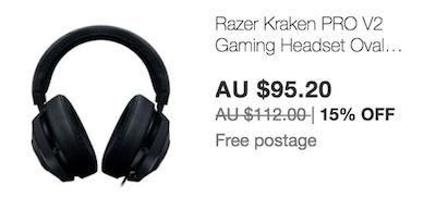 Razer Kraken PRO V2 头戴式游戏耳机 - 黑色 8折优惠!